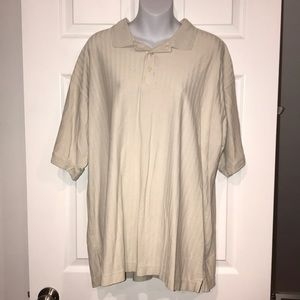 EUC cream men's polo